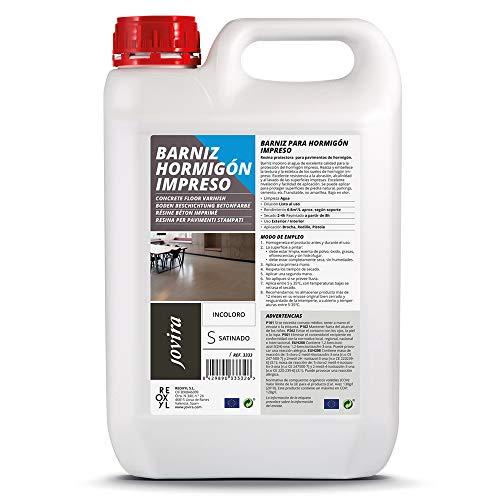 RESINA-BARNIZ PARA HORMIGÓN IMPRESO Resina protector satinado para pavimentos de hormigón. (5 Litros)
