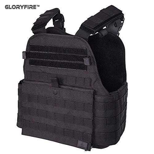 GFIRE Tactical Vest Modular Vest Breathable Combat Training Vest Adjustable Lightweight (Black1)