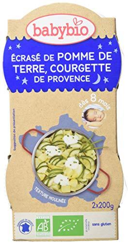 Babybio Bols Ecrasé de Pomme de Terre/Courgette de Provence 2x200 g