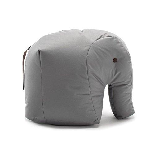 Sitting Bull 190114 Happy Zoo Carl Elefant Sitzsack, grau 100% Polyester beschichtet LxBxH 71x53x47cm