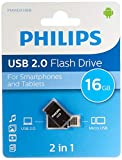Philips 2 en 1 Black 16 GB OTG Micro USB + USB 2.0