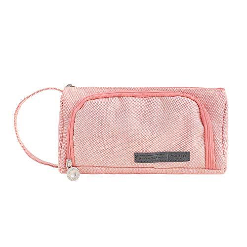 Neuleben Groß Federmäppchen Federtasche Mäppchen für Mädchen Damen Schule Büro Make-up Tasche (Pink)