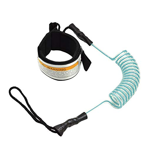 Cracklight Surf Leash String Rope Paddleboard Leash Safety TPU Paddle Stand Up Paddle Surfing Leash Safety Hands Ropes Paddle Board Strap Sup Board Leash Surfboard Accessories
