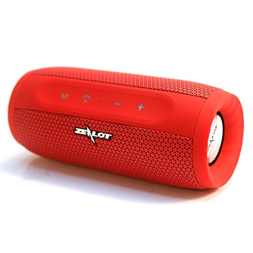 WirlessBluetooth Speakers Portable 20W Bass Zealot S16 MusicUnicorn Loud Stereo Sound & Handfree Calling,External Charger 4000mAh Battery Compatible with iPhone, Samsung, Huawei - Red