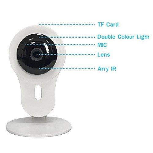 720P Baby Monitor Cámara Para Bebé / Anciano / Mascota / Niñera Monitor De Dos Vías Voz Conectar Carga Po Po Potencia Vigilancia Webcam