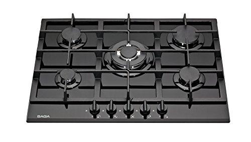 SAGA Teres P751-B 70cm 5 fornelli in vetro piano cottura a gas