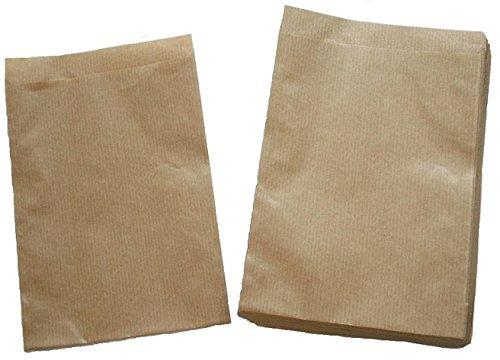 Papiertüten braun flach 13x18cm (1000St.) von BLÜHKING®