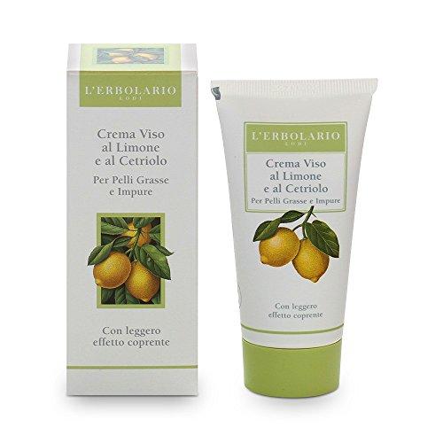 L'Erbolario Creme mit Zitrone und Gurken für unreine und Fette Haut, 1er Pack (1 x 50 ml)