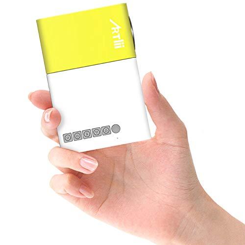 ミニプロジェクター 小型 プロジェクター 1080P対応 超軽量 子供大好き ホームシアター ポータブルプロジェクター パソコン/スマホ/タブレット接続可能 ポケットプロジェクター USB/TF/HDMI対応