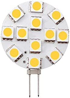 Dream Lighting Low Power 12V DC Warm White Super Bright SMD LED G4 Replacement Lamp Side Pin Kitchen/Cabinet/Cupboard/Dow...