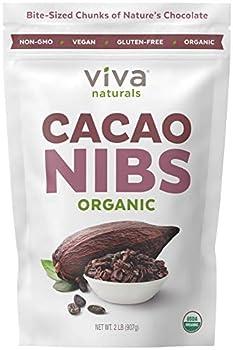 Viva Naturals - Premium Organic Cacao Nibs 2 lb Bag