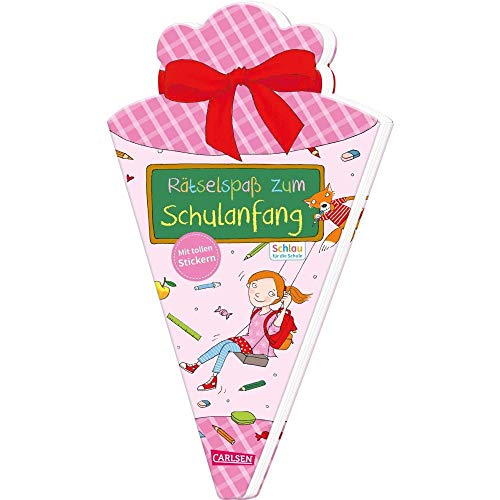 Schlau für die Schule: Rätselspaß zum Schulanfang mit Stickern (Schultüte für Mädchen): Malen und Rätseln für den Schulstart