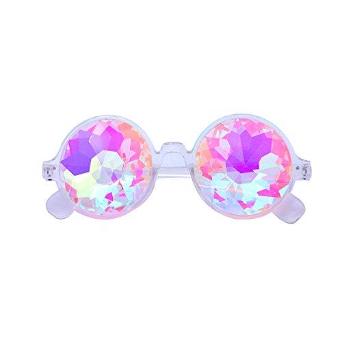 TOYMYTOY Kaleidoskop Gläser Regenbogen Rave Wurmloch Prisma Diffraktion Brille (wie abgebildet)
