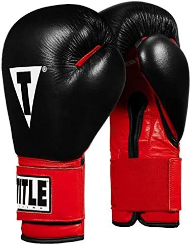 Title Boxing Infused Foam Youth Training Sparring Gloves Red Black 12 oz product image