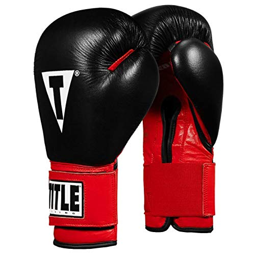 Title Boxing Infused Foam Youth Training/Sparring Gloves, Red/Black, 12 oz