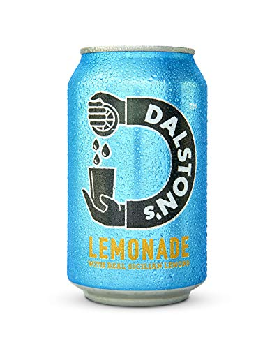 Dalston's Lemonade Soda (24 x 330ml) - Fizzy Soft Drinks Made with Real Squeezed Sicilian Lemons - Low Sugar - Low Calories - Vegan - No Artificial Sweeteners