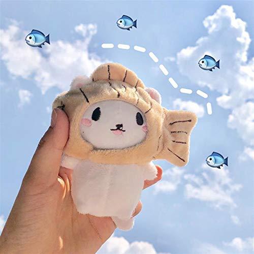Zzlush gefüllte Spielzeug 1 stück niedlichen kreative plüsch Spielzeug Cartoon Katze kätzchen mit fischkappe weiche gefüllte Puppe Keychain Keyring Taschen anhänger plüsch Puppe Geschenk