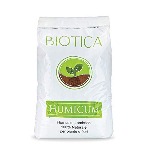 BIOTICA Humus di Lombrico HUMICUM - 50 Litri - Fertilizzante 100% Naturale
