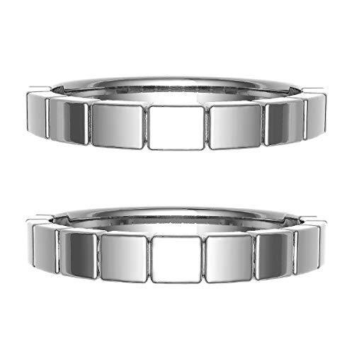 [ココカル]cococaru ペアリング 結婚指輪 シルバー 2本セット マリッジリング 日本製 (レディースサイズ9号 メンズサイズ2号)