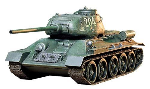TAMIYA 35138 1:35 Russischer Pz. T-34/85, originalgetreue Nachbildung, Modellbau, Plastik Bausatz, Basteln, Hobby, Kleben, Modellbausatz, Zusammenbauen, unlackiert