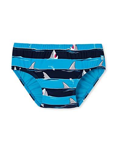Schiesser Baby-Jungen Shark Fever Windelslip Schwimmwindel, Blau (Admiral 801), 74/80