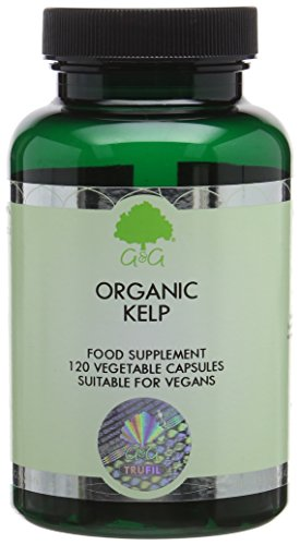 G&G Vitamins Organic Kelp 500mg - Kelp Ascophyllum Iodine - 120 Vegan Capsules