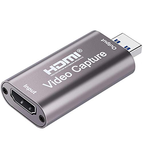 AVERYN Upgraded Audio Video Capture Cards, 1080p 60fps Capture Card,Ultra High Speed USB 3.0 for Gaming, Streaming Compatible with Nintendo Switch, PS3/4, Xbox One, Twitch, YouTube (Grey)