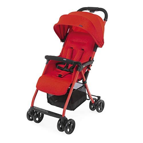 Chicco Ohlala 3 - Silla de Paseo Ultra Ligera y Compacta, Fácil Conducción, Solo Pesa 4,2 Kg, Color Rojo (Red Passion), unisex