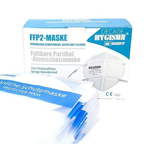 FFP2 Maske durch Stelle 2797 [10x] - Masken Mundschutz FFP2 Atemmaske, Maske FFP2 EINZELVERPACKT, FFP2 Maske ohne Ventil Maske Mundschutz einweg FFP2 Masken