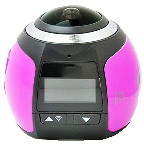 Action Cam,Fotocamera VR Panoramica a 360 °, Impermeabile Ipx8 di Alta qualità Ultra HD Sports Camera,Utilizzato per Sport E attività, Immersioni, Nuoto, Corsa, Ciclismo, ECC,3