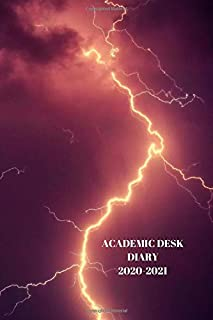 ACADEMIC DESK DIARY 2020-2021: A5 Diary Starts 1 August 2020 Until 31 July 2021. Sky .Paperback With Soft Water Repelling ...