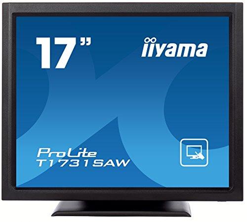 iiyama ProLite T1731SAW B1 43cm 17 SAW Touch SXGA Monitor Single Touch VGA DVI IP54 Schwarz