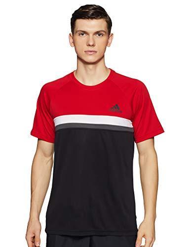 adidas Club C/B tee Camiseta de Tenis, Hombre, Rojo (Escarl), M