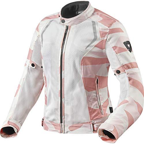 REV'IT! Motorradjacke mit Protektoren Motorrad Jacke Torque Damen Textiljacke camo rosa 42, Sportler, Ganzjährig, Polyester