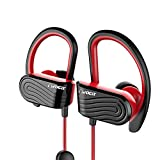 Dvao Wireless Bluetooth Earphones Stereo Sweatproof Magnetic Earbuds Secure Fit with Built-in Mic Microphone (Smasher Red Next Gen) wireless stereo headset Apr, 2021