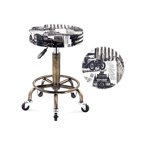XJZHAN Tabouret De Selle Beauté Salon Chaise Hauteur Réglable Professionnel avec Roues Pivotantes Hydraulique pour La Coiffure Manucure,Color2