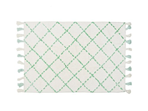 Aratextil. Alfombra Infantil 100% Algodón lavable en lavadora Colección Bereber Tanger Mint 120x160 cms