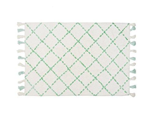 Aratextil. Tapis pour enfant 100% coton lavable en machine à laver Collection berbère Tanger Mint 120 x 160 cm