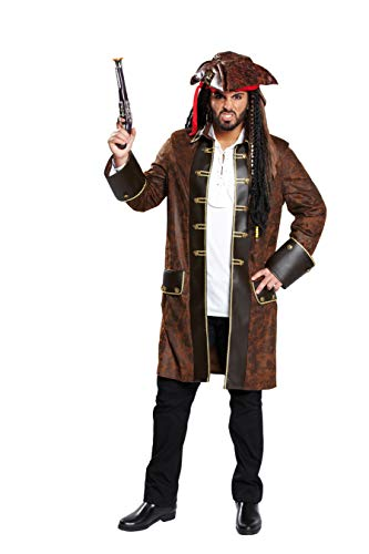 Piratenmantel Gr. 48, 50, 52, 54, 56, 58, Größe:58