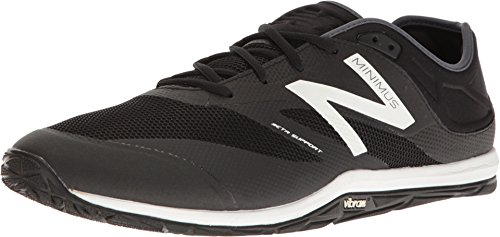 New Balance Men's Minimus 20 V6 Cross Trainer, Black/White/Thunder, 9 2E US