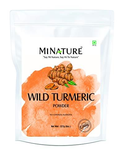 Wild Turmeric Powder by mi Nature | 227g( 8 oz)( 0.5 lb) | 100% Natural | Curcuma Aromatica | Jangli Haldi | Kasthuri Manjal