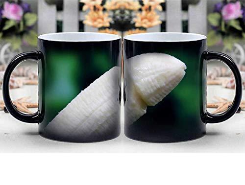 Amymami Personalized Gifts Heat Changing Magic Coffee Mug - Banana Breakfast Colorful Condom Defend Erotic