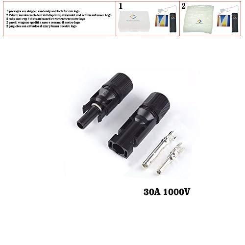 Steckverbinder 30A 45A 60A 80A Parallele Parallelschaltung 1000V Elektrische Solar-Stecker Photovoltaikpanel-Kabel Drahtverbindung, Steckverbinder 30A