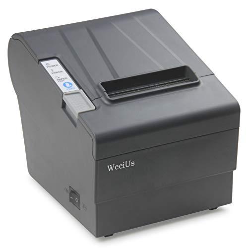 WeeiUs 80 MM  3'1/8 POS Thermal Receipt Printer USB Serial Ethernet/LAN Port Cashdrawer RS232 Auto Cutter Support Windows Mac ESC/POS