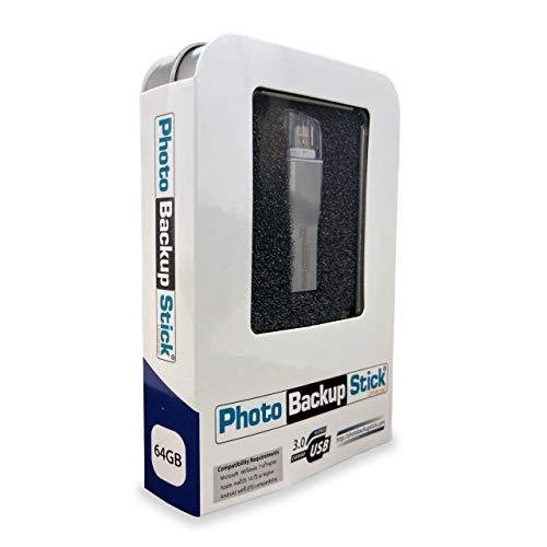 Photo Backup Stick Universal para ordenadores Windows y Mac, iPhones, iPads y Android (64 GB)