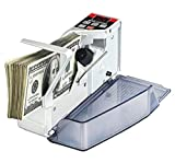 HARTI Contatore di Denaro Portatile, Mini Macchine per Il Conteggio Contatori di Banconote Portatili Banconota di Valuta Banconota in Contanti Contatore di Biglietti, Adatto per Note Polimeriche