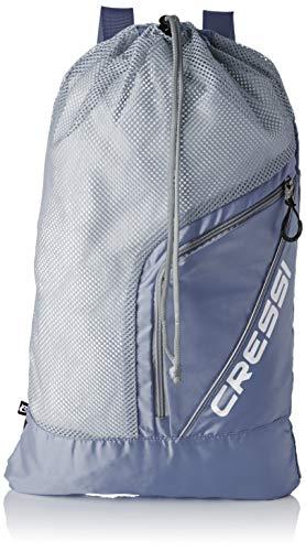 Cressi Unisex– Erwachsene Sumba Bag Sportrucksack mit Netz, Grau, Eine Eine Größe