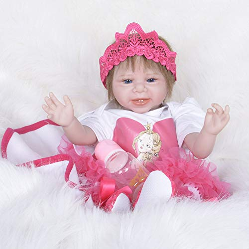Reborn Doll Toy Doll Simulation Silikonpuppe 55cm, A,Babypuppen