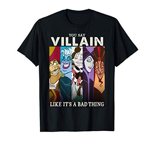 Disney Villains Colorful Group Shot Humor Graphic T-Shirt T-Shirt