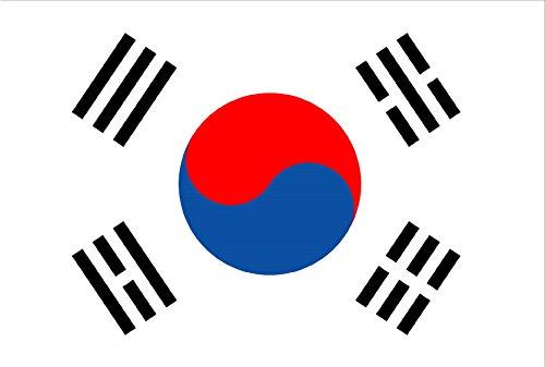 Durabol Drapeau de Coree du Sud 150 x 90 cm Satin Double Piqué